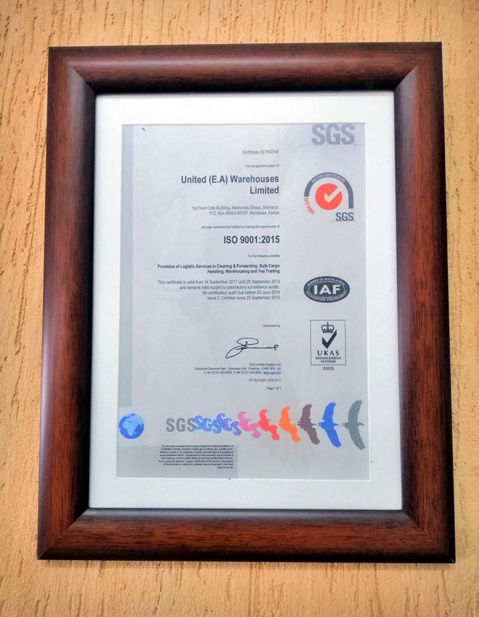 Proud to announce that we are now ISO 9001:2015 Certified!